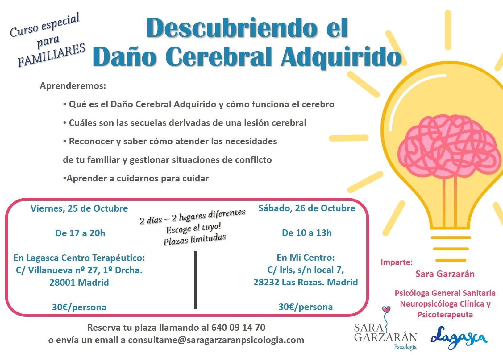 Curso sobre daño cerebral y neuropsicología para familias en La